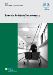 Domestic Assistants/Housekeepers - Health Facilities Scotland