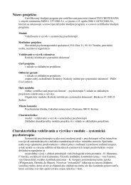 systemická psychoterapia - Slovenská psychoterapeutická spoločnosť