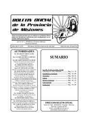 Provincia de Misiones. Ley provincial para el desarrollo, promoción ...