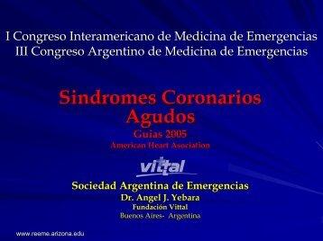 Síndromes coronarios agudos - Reeme.arizona.edu