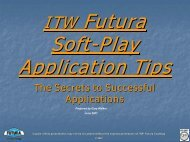 Soft-Play Application Tips - ITW Futura Coatings