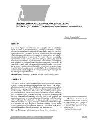 Estratégias organizacionais, processo seletivo e integração normativa