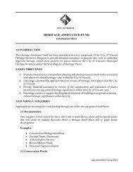 Information Sheet - Vincent Heritage
