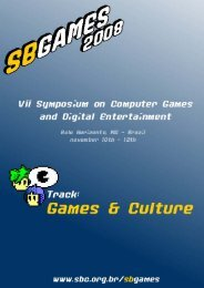 VII SBGames - Proceedings - Games & Culture Track ... - PUC Minas