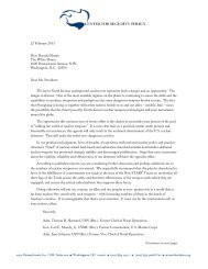 an open letter to the president - Center for Security Policy