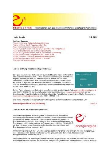jänner 2013 - Energieinstitut Vorarlberg