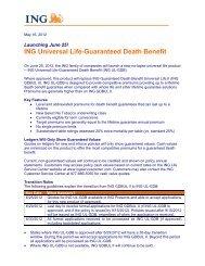 ING Universal Life – Guaranteed Death Benefit
