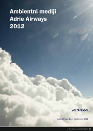 Ambientni mediji Adrie Airways 2012 - Adria Airways