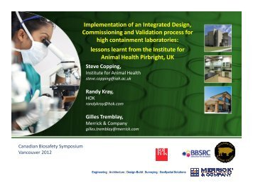 Implementation of an Integrated Design, Commissioning and ...