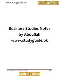 Business Studies Notes by Abdullah www.studyguide.pk