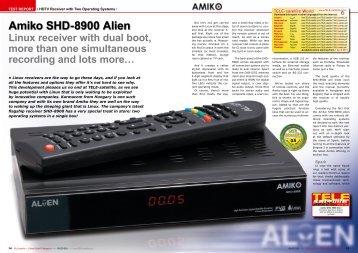 Amiko SHD-8900 Alien - TELE-satellite International Magazine