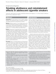 Smoking abstinence and reinstatement effects in adolescent ...