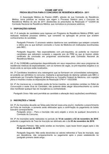 MANUAL DO CANDIDATO - Associação Médica do Paraná