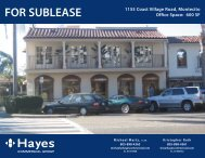 FOR SUBLEASE