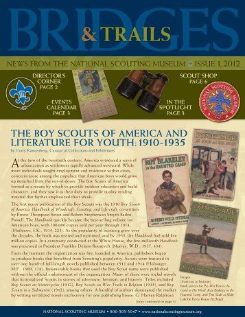 The Boy ScouTS of AmericA And LiTerATure for youTh: 1910-1935