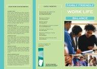 Work Life Balance Leaflet March 2006