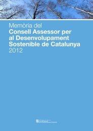 Memòria 2012 - Generalitat de Catalunya