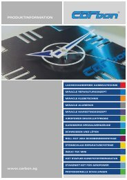 PRODUKTINFORMATION www.carbon.ag - Carbesa AG