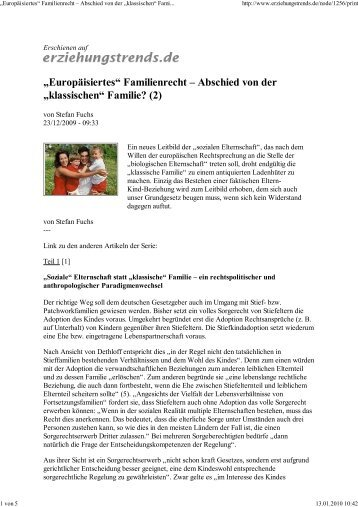 """Abschied von der """"klassischen"""" Familie?"""