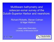 Multibeam Bathymetry and Sidescan-Sonar Survey of the Duluth ...