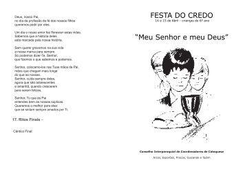 """FESTA DO CREDO """"Meu Senhor e meu Deus"""" - Diocese de Braga"""