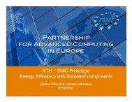KTH – SNIC Prototype Energy Efficiency with Standard ... - prace