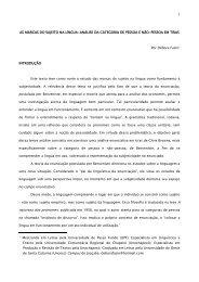 AS MARCAS DO SUJEITO NA LÍNGUA: ANÁLISE DA CATEGORIA ...