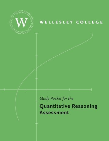 Quantitative Reasoning Assessment - Wellesley College