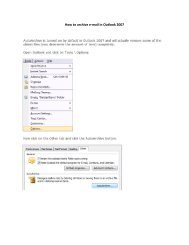 How to archive e-mail in Outlook 2007