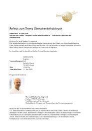Donnerstag, 18. Juni 2009 Referat zum Thema ... - EventClub60plus