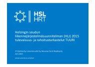 ja rahoitustarkastelut TUURI - HSL
