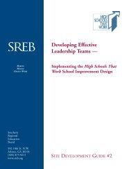 Developing Effective Leadership Teams - Southern Regional ...