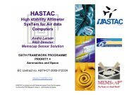 HASTAC High stability Altimeter SysTem for Air data Computers ...