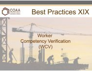 Worker Competency Verification - Construction Owners Association ...
