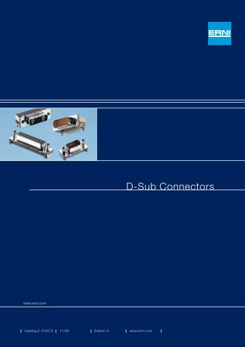 Download Erni D Sub Connectors PDF