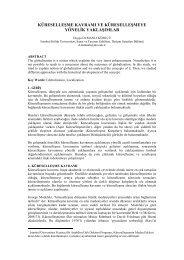 küreselleşme kavramı ve küreselleşmeye yönelik ... - tojdac.org