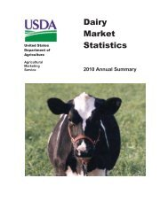 Dairy Market Statistics 2010 Annual Summary - Agricultural ...
