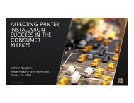 affecting printer installation success in the consumer market - PNSQC
