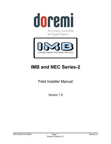 4.2 SMPTE 430-10 Protocol