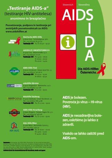 """Testiranje AIDS-a"" - AIDS-Hilfe Steiermark"