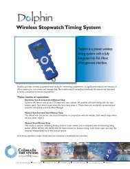 Wireless Stopwatch Timing System - Colorado Time Systems