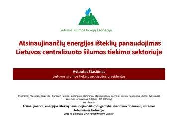 Atsinaujinančių energijos išteklių panaudojimas Lietuvos ...