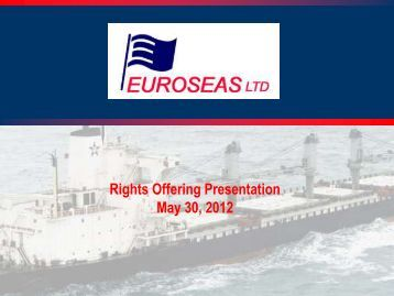 Download Presentation (PDF) - Euroseas Ltd.