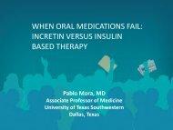 when oral medications fail - American Diabetes Association