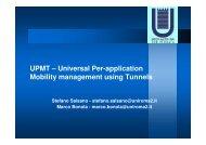 UPMT – Universal Per-application Mobility management using ...
