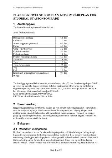 1-215 Planbeskrivelse 28.03.2012.pdf - Stjørdal kommune