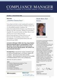 (PDF) | Ausgabe Februar 2008 - Compliance