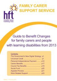 Guide to Benefit Changes from 2013 - National Family Carer Network