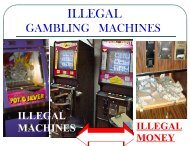 Illegal Video Gambling Devices - 1-888-betsoff
