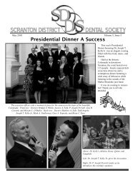 SDDS May Newsletter 2010 - Scranton District Dental Society